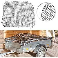 Lescars Anhängernetz: Anhänger-Gepäcknetz mit umlaufendem Gummiseil, 125 x 210 cm (Hänger Netz)