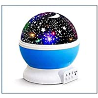 SIBY Plastic 360 Rotating Star Desk Night Lamp for Baby Room LED Rotating Night Lamp Projector Starry Sky Star Master Projection lamp Children's Room Decorated Lamp Christmas Gift,1Pc(Multi Color)