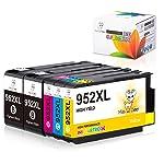 Miss Deer 952 XL 952XL Ink Cartridges Replacement for HP 952XL 952 XL Work for OfficeJet Pro 8710 8720 7740 8730 7720...