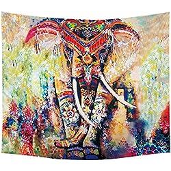 Tapiz de elefante con mandala