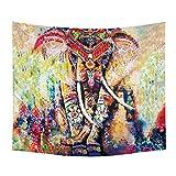 LLQ elefante colgante de pared cama Mandala bohemio playa Hippie indio dormitorio decoración de la pared