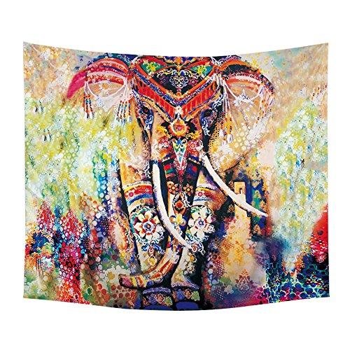 LLQ elefante colgante pared cama Mandala bohemio playa
