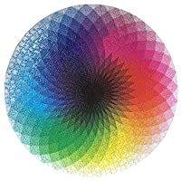 FORNORM Gradient Puzzle, Round Jigsaw Puzzles Colorful Rainbow Puzzle Educational Game Stress Reliever for Adult Kids