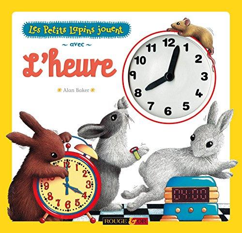 Les petits lapins jouent avec l'heure