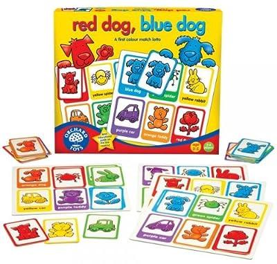 Orchard Toys Red Dog, Blue Dog - Juego educativo para aprender los colores por Orchard Toys