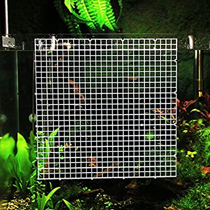 DealMux Aquarium Fish Tank Fry Screen Egg Net Crate Separate Divider Board Black 3