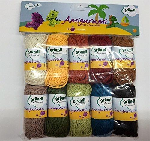 Set di gomitoli di lana per Amigurumi , Colori invernali , confezione...