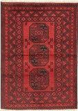 CarpetVista Afghan Teppich 98x139 Orientalischer Teppich