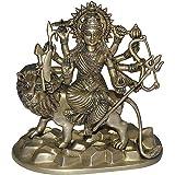 ShalinIndia Brass Hindu Goddess Durga Statues for Home Decor (Gold)
