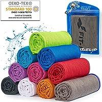 Cooling Towel für Sport & Fitness – Mikrofaser Handtuch/Kühltuch als kühlendes Handtuch für Laufen, Trekking, Reise &...