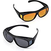 Argos® HD Vision Wrap Around Glasses -2PCS for Night Driving or Men and Women