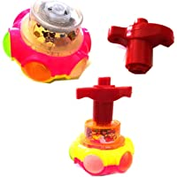 BKDT Marketing Spinning Toy LED Magic Lattoo with Colorful Flash Light and Music Laser Toy Multicolor Spinning Top Toy…