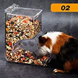 Perfuw Hamster-Futterspender, automatischer Futterautomat, große Kapazität,...