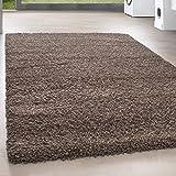 Teppiche PRIO SHAGGY für Wohnzimmer, Gästezimmer, Jugendzimmer oder Küche mit 3 cm Florhöhe PRIO 90000 hochflor shaggy einfarbig Teppiche , Farbe:Mocca, Maße:160x230 cm