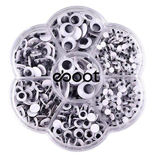 700 Stück runde Wiggle Glubschaugen Wackelaugen mit Selbstklebende DIY Scrapbooking Handwerk Spielzeug Zubehör, Verschiedene Größen