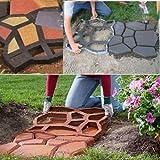 Vinus® Pathmate Pflasterstein-Gussform, zur Gestaltung von Beton- und Gartenwegen, zufälliges Muster