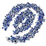 UEETEK Polierschotter-Mischfarbe dekorative Fluss-Felsen-Steine für Aquarium (blau)