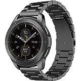 """Simpeak Bracelet Compatible avec Samsung Galaxy Watch 42mm(SM-R810), Bracelet de Remplacement en Acier Inoxydable de première qualité Compatible avec Samsung Watch 42mm, 4.8"""" - 7.5"""", Noir"""