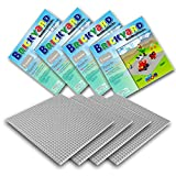 Brickyard Building Blocks Grundplatten für Bausteine (4er-Paket Grau)