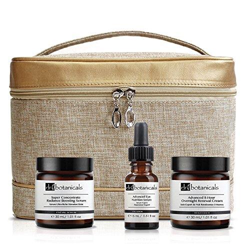 Dr Botanicals KDBRBOREN - Terapia para ojos avanzada revitalizante, crema regeneradora avanzada de noche, 8 horas, serum nutritivo avanzado para ojos