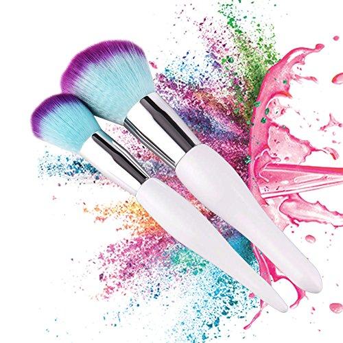 Comaie Puderpinsel, groß, für Make-up, Grundierung, Gesicht, Rouge, 2 Stück