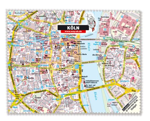 Mikrofasertuch Köln, das Brillentuch mit Stadtplan