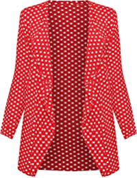 0b2d7f07b0c9ca WearAll - Übergröße polka dot langarm punkte druck cardigan Top - Größe ...