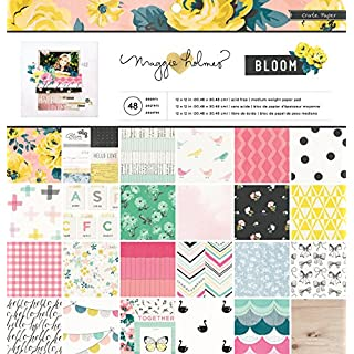 American Crafts Crate Paper Pad x 12-inch 48/Pkg-Maggie Holmes Bloom, Other, Multicoloured, 31.59 x 32 x 1.19 cm
