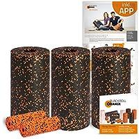 Preisvergleich für Blackroll Orange Die Faszienrolle Pilates-Set, mit 3x Faszienrolle Standard, 2x Massagerolle Mini, inkl. Übungs-Booklet und Übungsposter