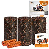 Blackroll Orange Die Faszienrolle Pilates-Set, mit 3x Faszienrolle Standard, 2x Massagerolle Mini, inkl. Übungs-Booklet und Übungsposter