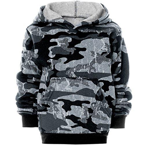 BEZLIT Jungen Camouflage Hoodie Kapuzenpullover Pullover 21612 Grau Größe 104