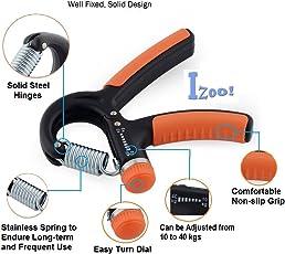 Izoo Adjustable Hand Gripper - Exerciser Strengthener Hand Exerciser Resistance 10Kg To 40Kg For Gym,Strong Wrist, Finger, Forearms