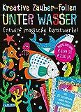 Kreative Zauber-Folien: Unter Wasser: Set mit 10 Zaubertafeln, 20 Folien und Anleitungsbuch