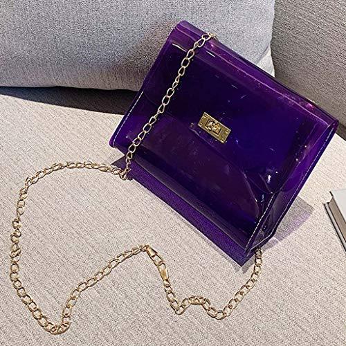 Dkings Frauen stilvolle schöne Schultertasche Jelly Stiletto Tasche einfarbige Handtasche elegant