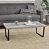 [en.casa]® Couch-Tisch Design MDF - Beton-Optik - 110x60x35cm - Beistelltisch Wohnzimmer