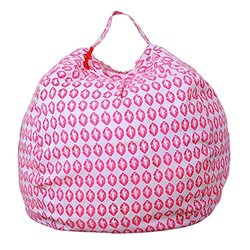 zeug-Bean Bag zur Aufbewahrung von Plüschtieren, weicher Sitzsack aus gestreiftem Stoff ()