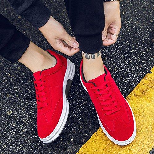 FEIFEI Scarpe da uomo primavera e autunno movimento moda scarpe casual traspirante 3 colori (taglia scelta multipla) ( Colore : Nero , dimensioni : EU39/UK6.5/CN40 ) Rosso