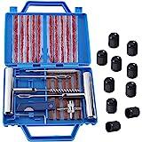 Kit Réparation Pneu 32PCS, Tubeless Roue De Pneu Crevaison Outil De Rectification Set pour Moto, VTT, Jeep, Réparation de Per