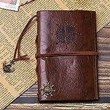 """Traveller's Handbook Pocket"" Diario di viaggio per notebook Ecopelle copertina rilegata Journalationery Gift 150 pagine interne 10x145 cm marrone"