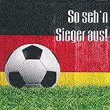 AvanCarte GmbH Fussball Servietten Tischdeko Essen WM Sieger 20 Stück 3-lagig 33x33cm