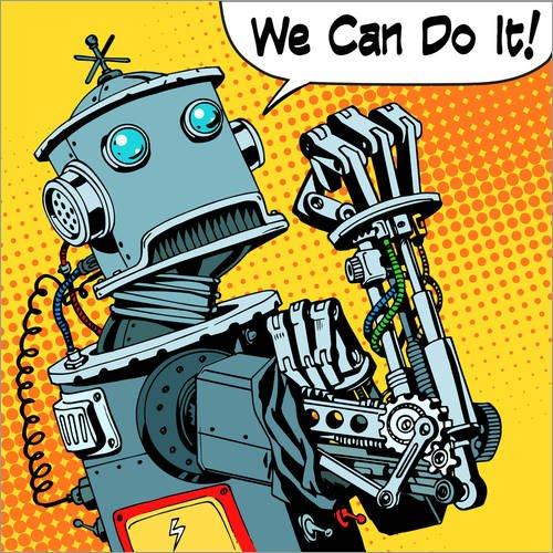 Posterlounge Lienzo 100 x 100 cm: We Can do it Kidz
