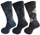 BirthMark Diamond Design Woolen Terry/Towel socks Full Length Socks for Men (3 Pairs)