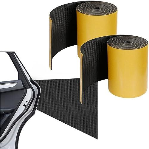 Rovtop - 2 Pezzi in un Rotolo - 2000 * 200 * 5mm - Paracolpi Garage Pannelli Adesivi e Ammortizzanti Protettiva per Auto Protezione a Muro per Porta Auto