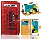 Vodafone Smart Ultra 6 Handy Tasche, FoneExpert® Wallet Case Flip Cover Hüllen Etui Ledertasche Lederhülle Premium Schutzhülle für Vodafone Smart Ultra 6 (Pattern 12)