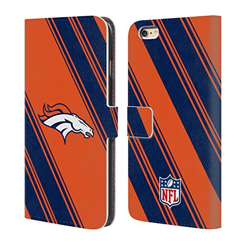 Ufficiale NFL Righe 2017/18 Denver Broncos Cover a portafoglio in pelle per Apple iPhone 7 Plus Righe
