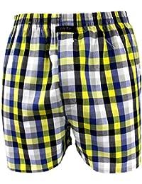 Webboxer Boxershorts Boxer von CITYLIFE für Jungen marine blau gelb weiss 140 152 164 176