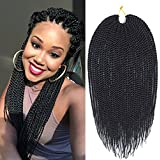 Mirra's Mirror (6Packs-18Inch -30 Strands) 1B# Senegalese Twist Crochet Hair Synthetic Braiding Braids Hair For...