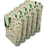 YaZhi Cotton Canvas & Cotton Reusable Shopping Bags (Set of 5) (White_002YZPtint007)