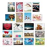 ewtshop 20er Postkarten Set Liebe mit 20 Sprüchen & Zitaten // Postkarte Grußkarte mit Spruch