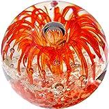 Kaltner Präsente Geschenkidee: Traumkugel Glaskugel Briefbeschwerer Kugel aus Glas Farbe Rot (Ø 85 mm)